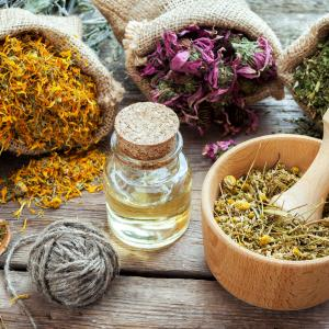 Healing herbs and oil
